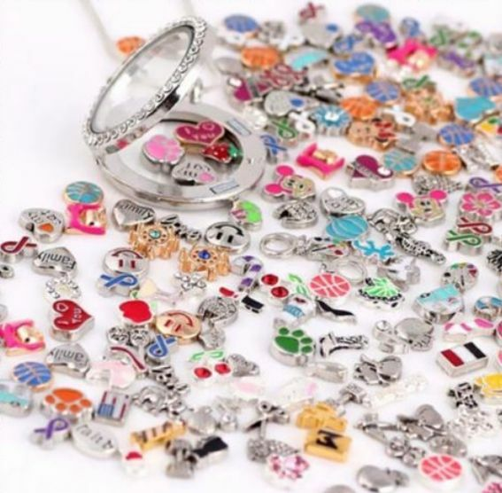 floating charms lot living memory glass locket charms