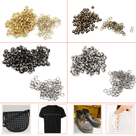 img-100pcs 4mm Eyelets Grommets with Washers Leather Craft Banners Belt Shoes Canvas