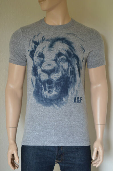 NEW Abercrombie & Fitch Bartlett Ridge Grey Vintage Lion Mascot Tee T-Shirt XL