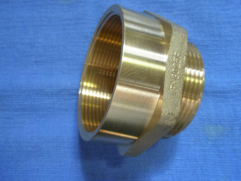 Fire hose hex brass adapter quot male nst female ipt