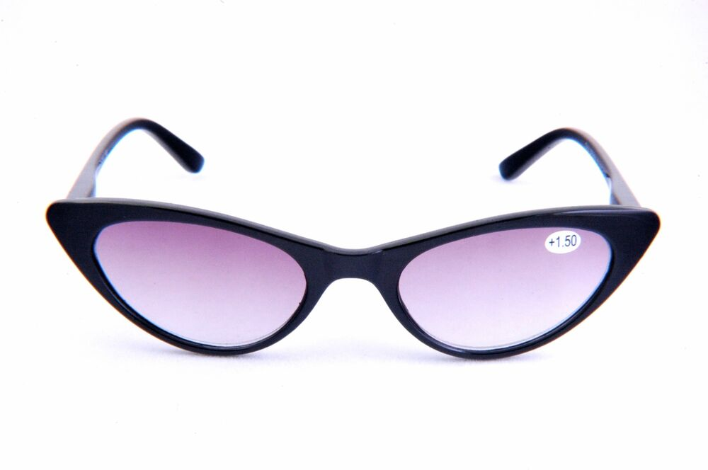 Lightweight Plastic Frame Glasses : Reading Tinted Sunglasses Cat Eye Design Lightweight ...