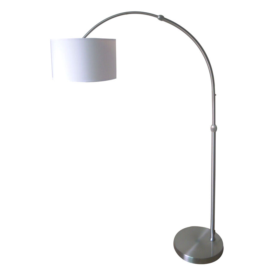 Modern 79 Quot Adjustable Arc Arch Floor Lamp Brushed Nickel