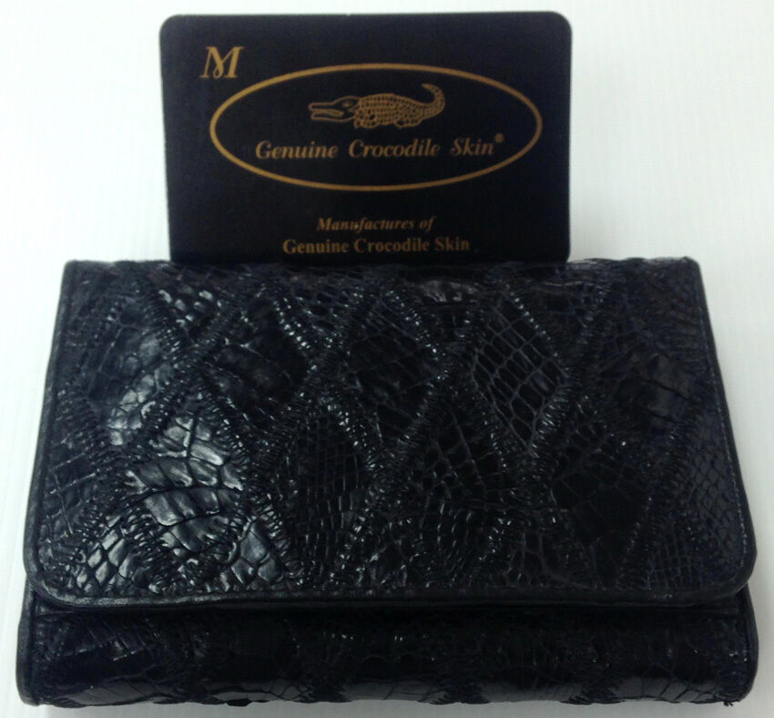 Genuine Real Crocodile Alligator Belly Leather Skin Man