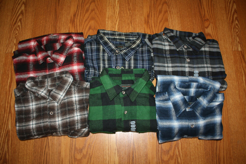 Nwt mens field stream plaid flannel double pocket shirt for Field and stream fishing shirts