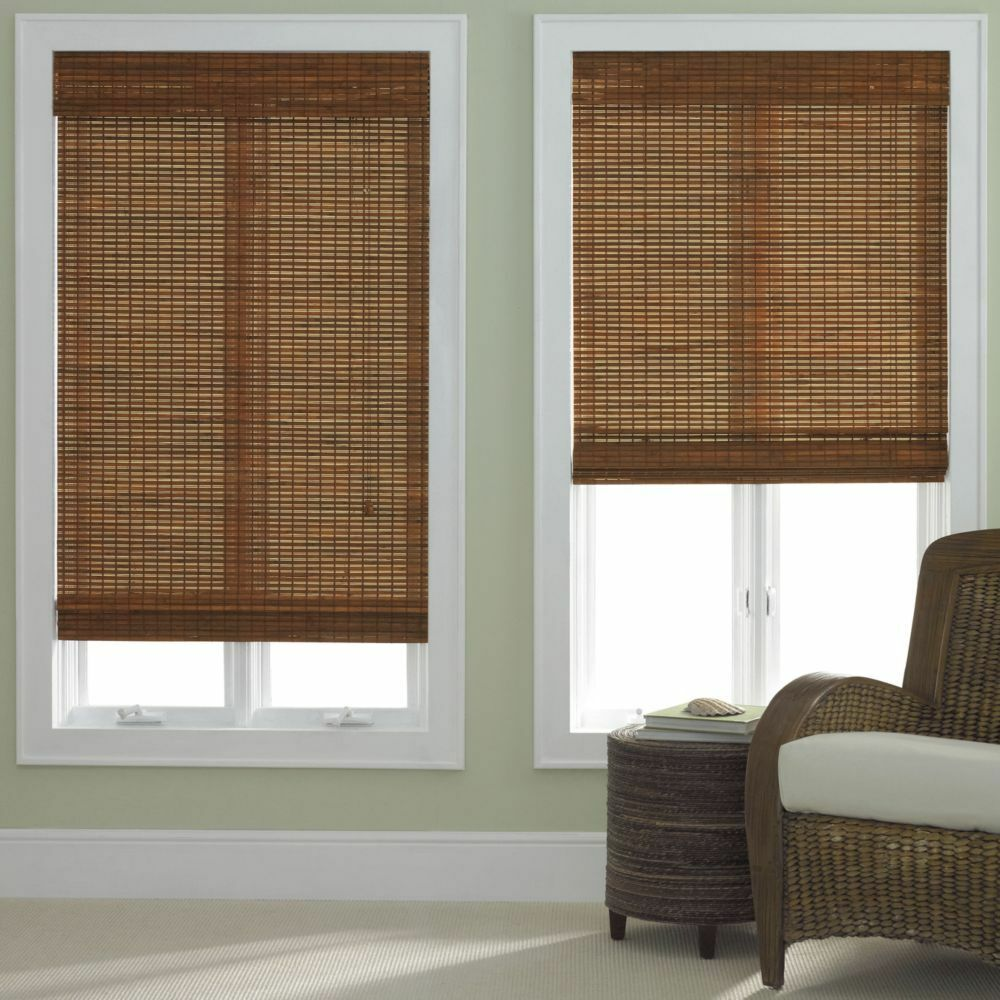 Bamboo roman shade five colors free shipping ebay for Shades and window treatments
