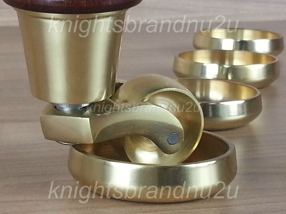 Castor Coasters Solid Brass Furniture Glides Floor Protector Sofa Chairs Settee Ebay