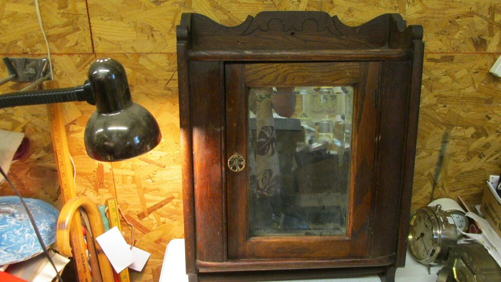 antique oak medicine cabinet ebay 87985