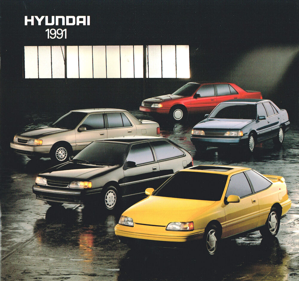 1991 hyundai excel sonata scoupe brochure catalog gs. Black Bedroom Furniture Sets. Home Design Ideas