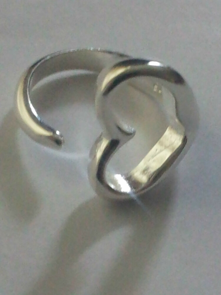 925 sterling silver plated adjustable ring thumb finger
