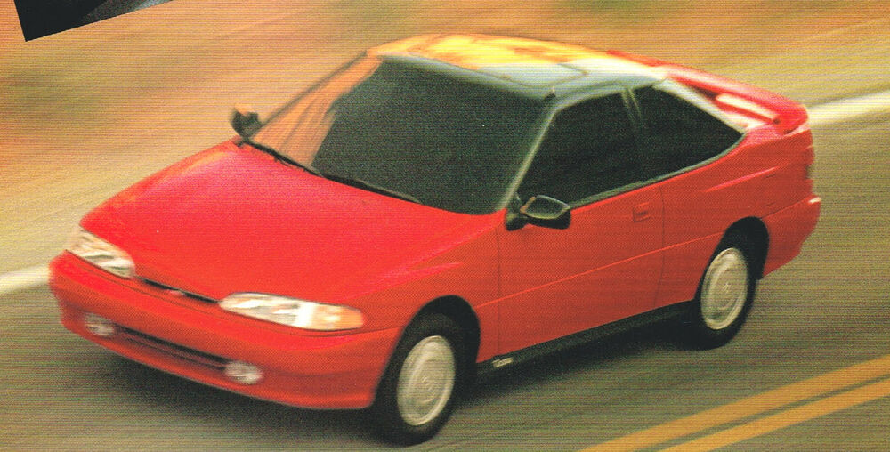 1994 hyundai excel sonata scoupe elantra brochure. Black Bedroom Furniture Sets. Home Design Ideas