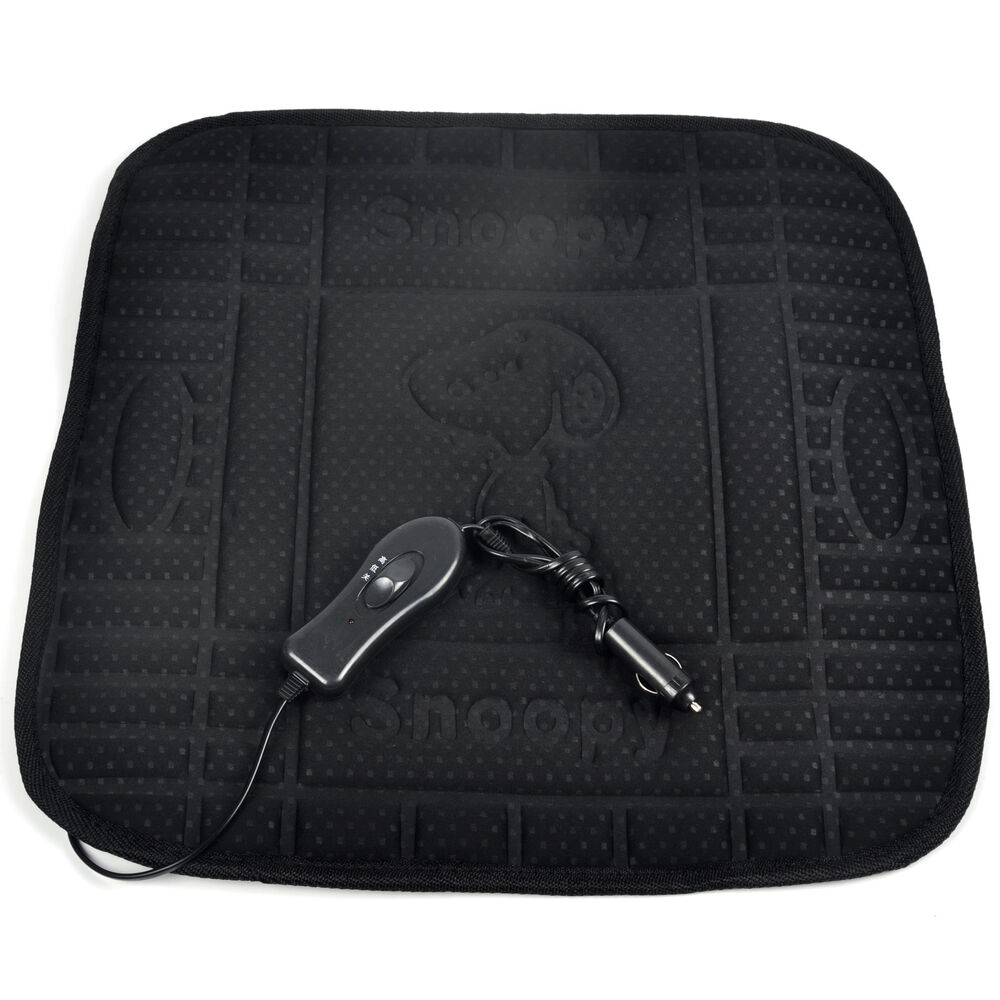 new black car heated seat cover hot cushion auto 12v heat heater warmer pad ebay. Black Bedroom Furniture Sets. Home Design Ideas