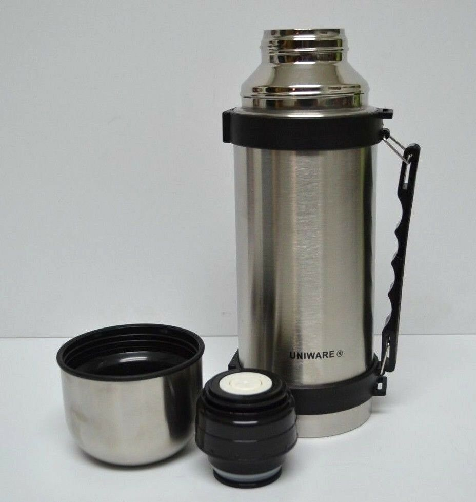 sale vacuum stainless steel insulated coffee soup bottle thermos 1 liter large ebay. Black Bedroom Furniture Sets. Home Design Ideas