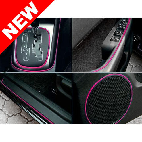 Universal car interior exterior pink molding trim 3 for Automobile decoration accessories