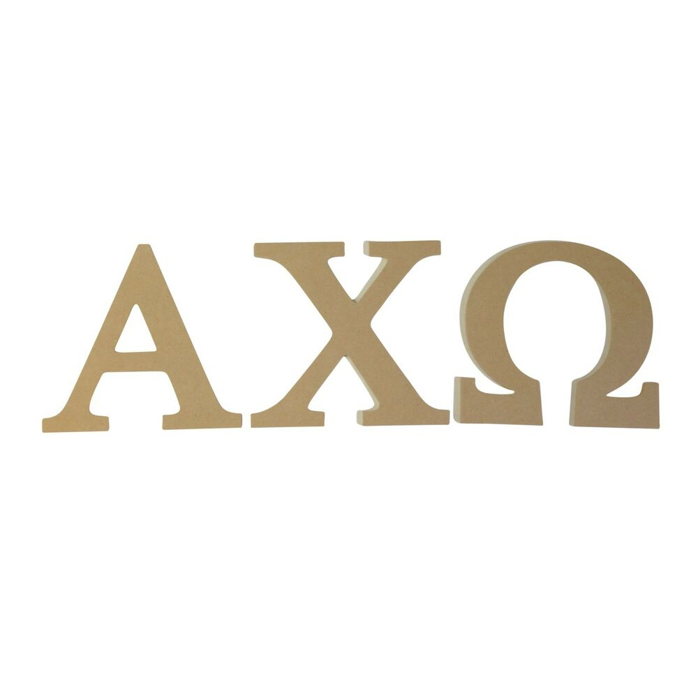 greek letter chi alpha chi omega 7 5 quot unfinished wood letter set ebay 11615 | s l1000