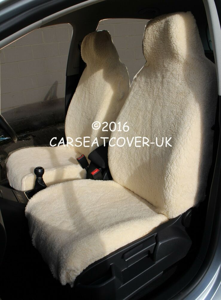 Sheepskin Luxury Faux Fur Car Seat Covers Front Pair