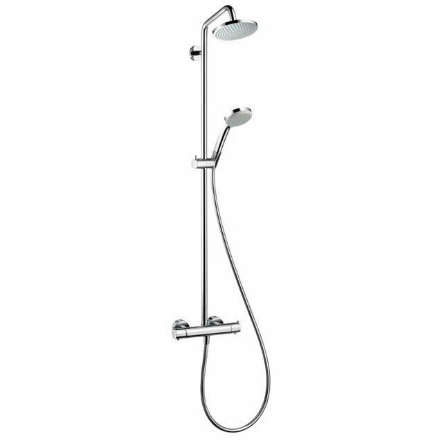 hansgrohe showerpipe croma 100 chrom 27169000 duschsystem. Black Bedroom Furniture Sets. Home Design Ideas