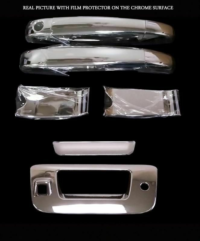 for chevy silverado 07 13 chrome door handle cover tailgate cover ebay. Black Bedroom Furniture Sets. Home Design Ideas