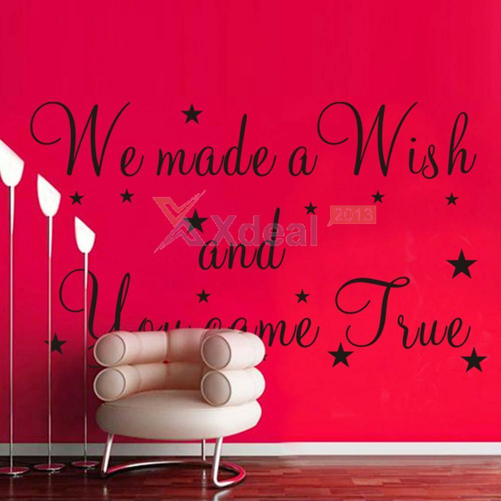 Vinyl Wall Art Quotes For Nursery : We made a wish wall quotes decal removable stickers decor