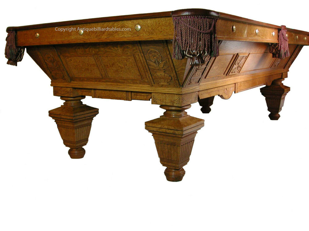 Antique billiard pool brunswick balke collender manhattan for Brunswick pool tables