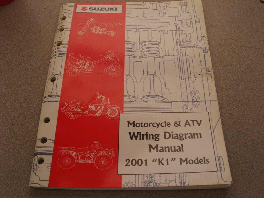 Suzuki Motorcycle  U0026 Atv Wiring Diagrams Manual 2001 K1
