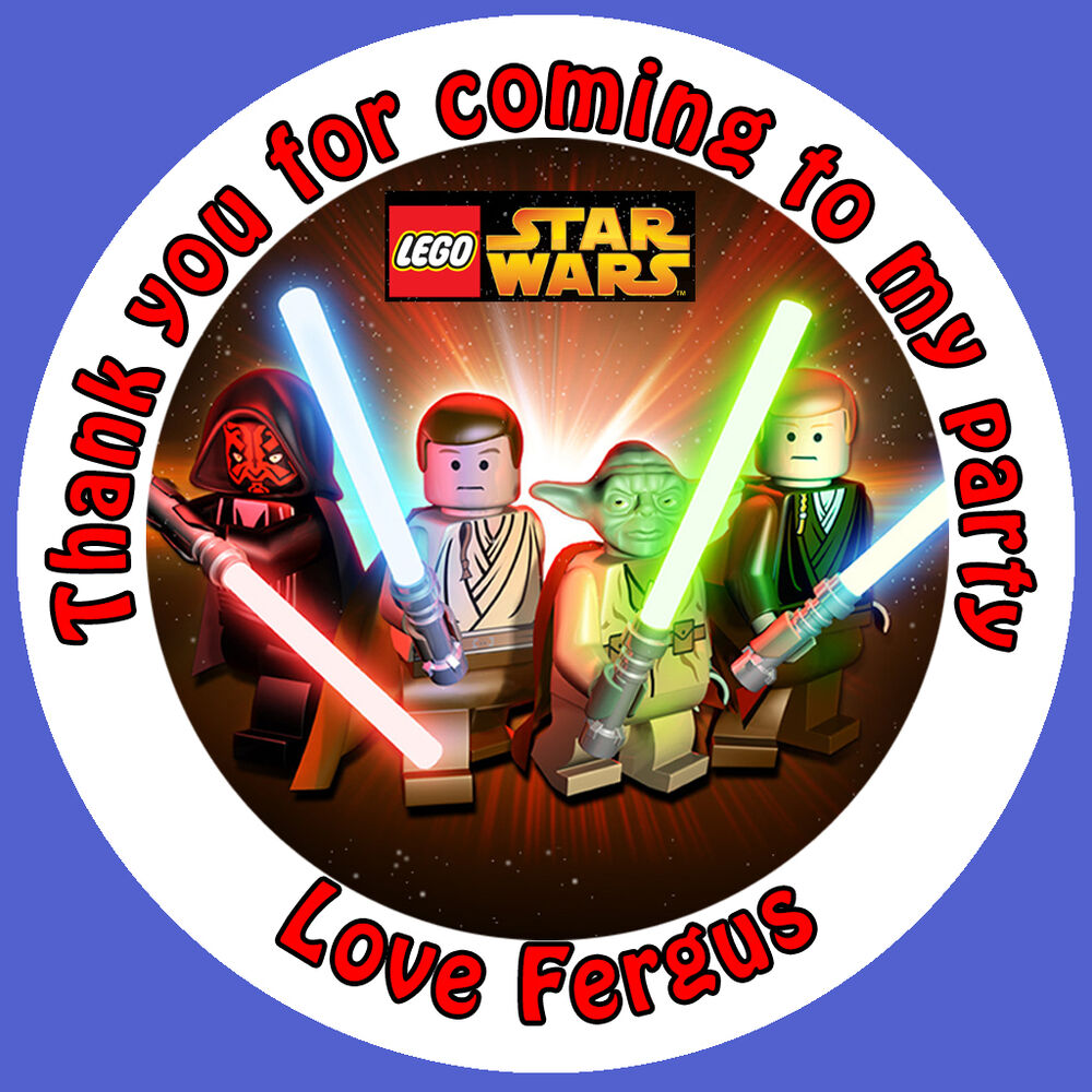 Personalised Lego Star Wars 35x 37mm Birthday Gift