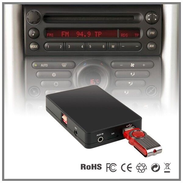 car stereo usb sd aux mp3 interface cd changer adapter. Black Bedroom Furniture Sets. Home Design Ideas
