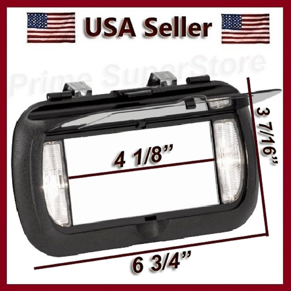 Vanity Light For Car Visor : New LED Lighted Black Clip On Sun Visor/Vanity Mirror Car/Automobile Light Cover eBay