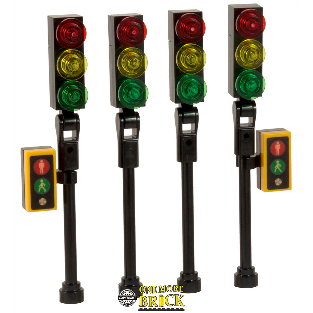 Bike Repair Tools Lego Traffic Lights for City Street / town / road - NEW X4 ...