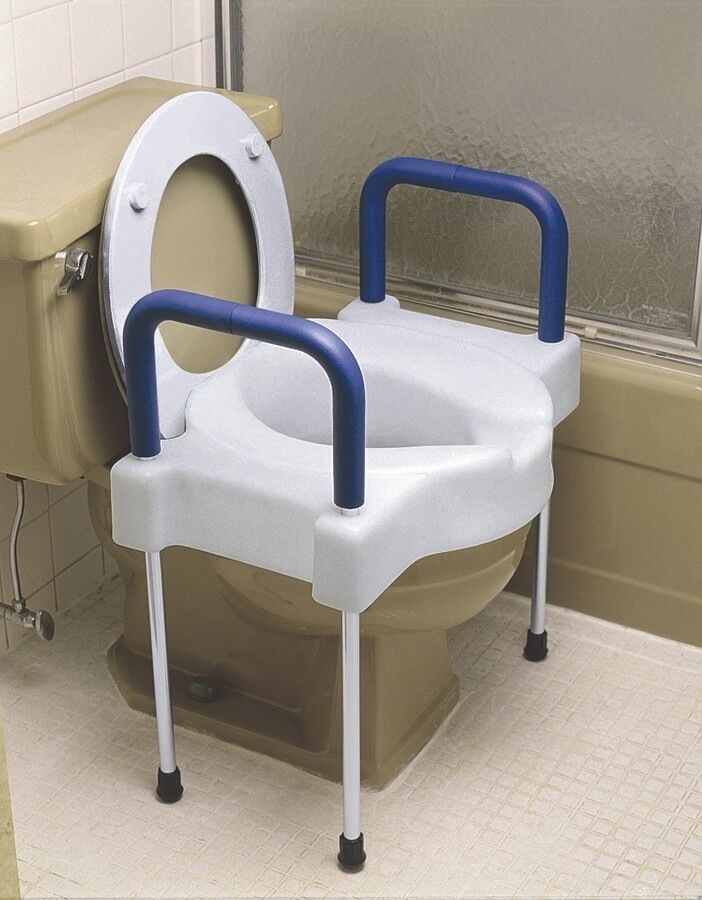 Extra Wide Tall Ette Elevated Toilet Seat With Aluminum