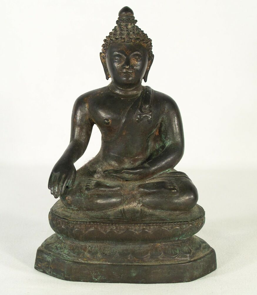 Buy Antique Handcrafted Buddha Lantern For Corporate: Early Asian Antique Buddha Bronze Statue