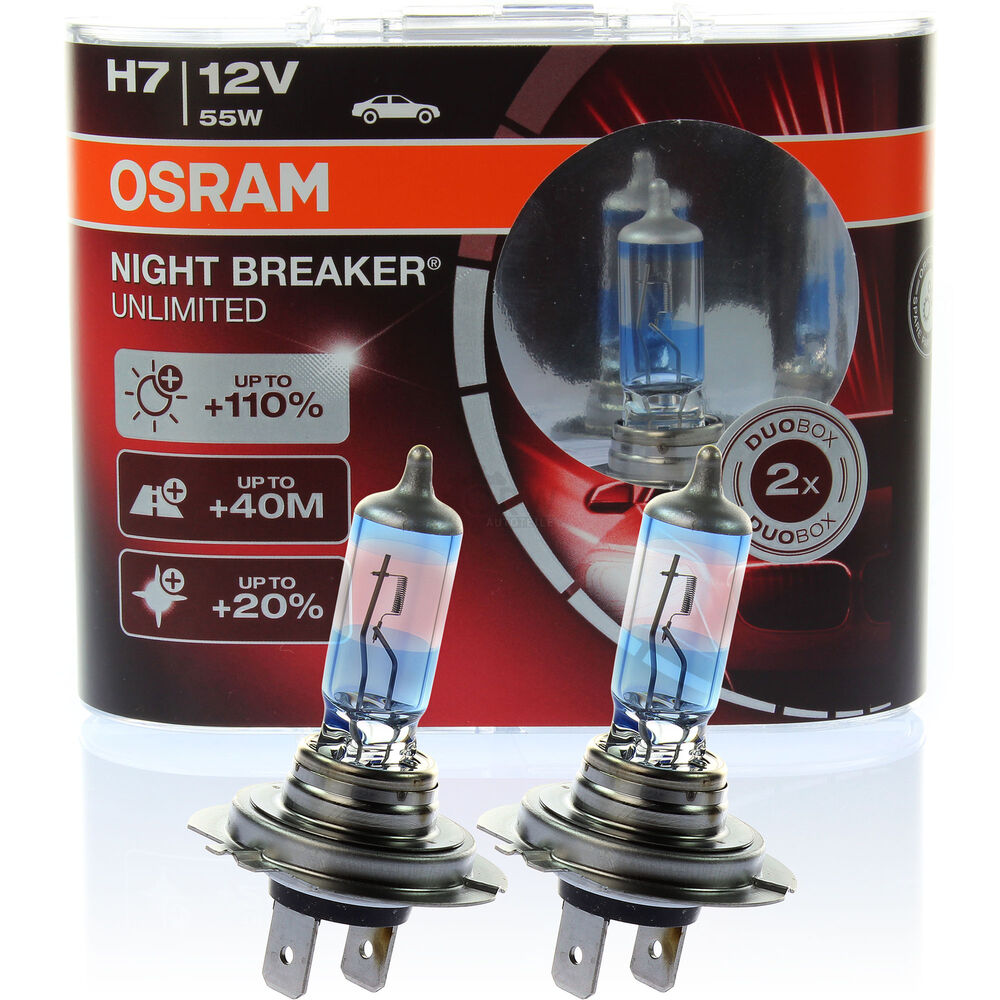 osram night breaker unlimited xenon look h7 12v 55w 110 px26d duo box ebay. Black Bedroom Furniture Sets. Home Design Ideas