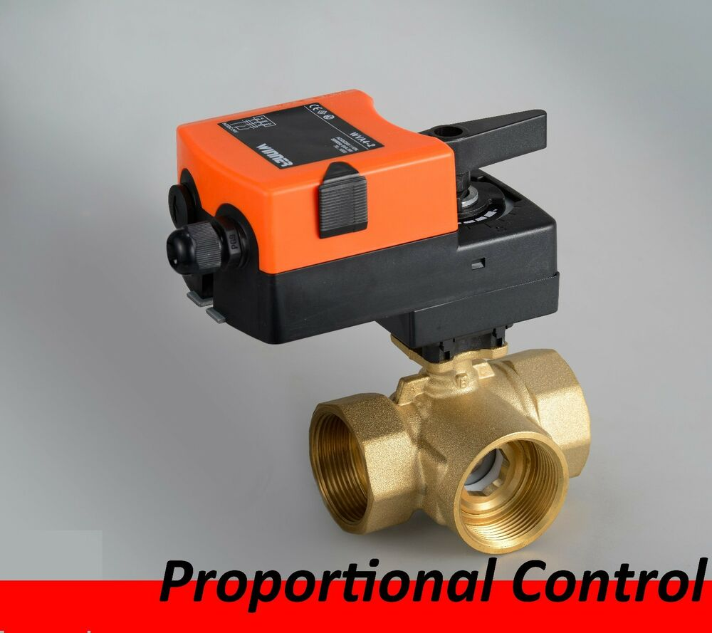 3 Way 24vdc Ac On Off Proportional Modulating Motorized