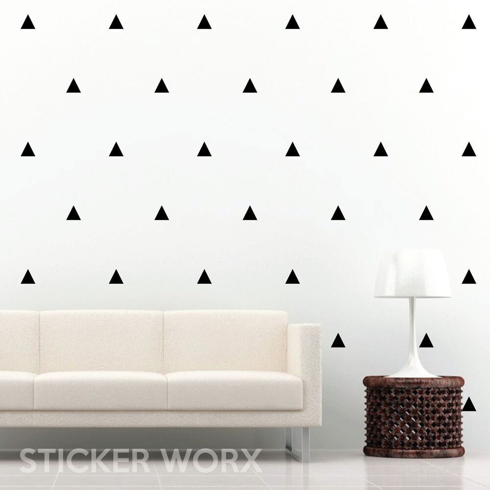 triangle wall stickers wall decals wall art ebay