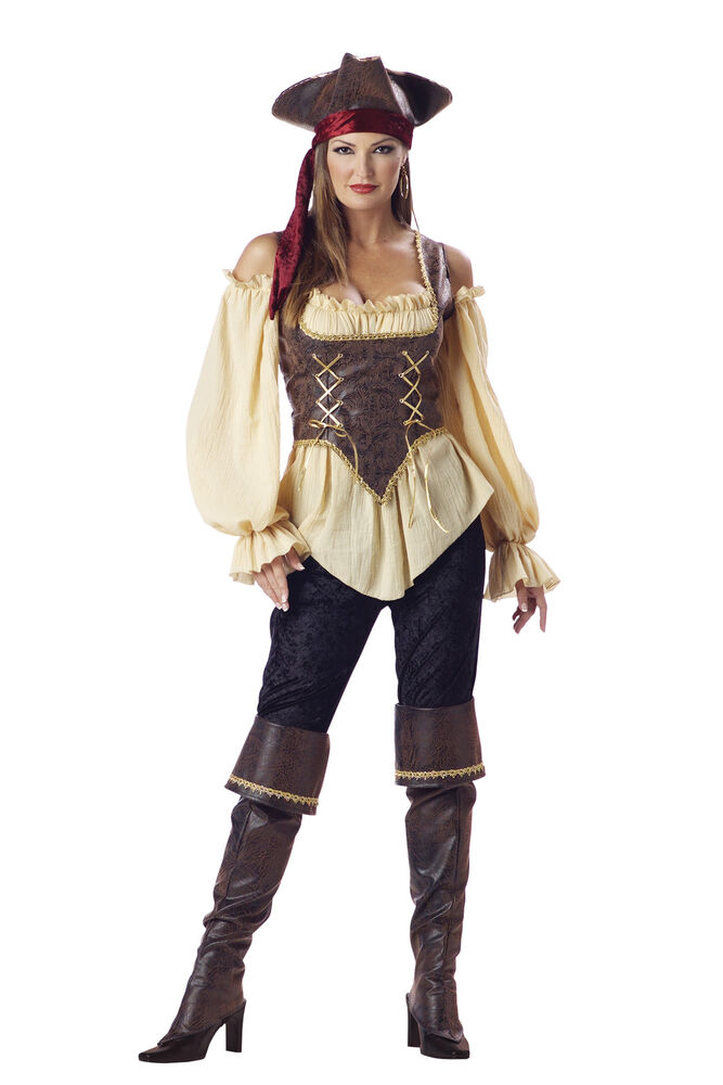 RUSTIC PIRATE LADY ELITE ADULT COLLECTION COSTUME Corset ...