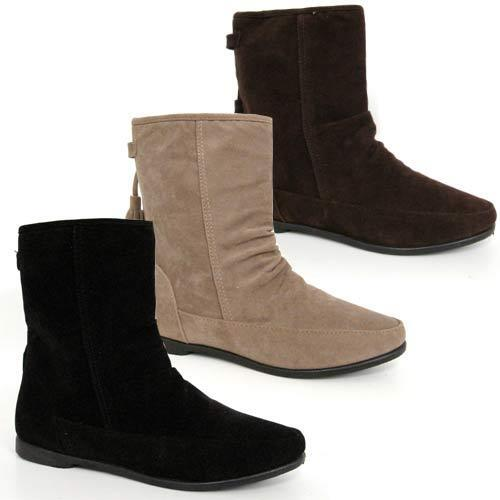 Once you put on these slouchy soft suede boots, you'll tread more lightly than ever before. In beautiful Spring shades, this style now comes with a new floral textile lining or traditional faux fur option and charming tassel detail, Pixie is right on-trend and is gently supported by a .