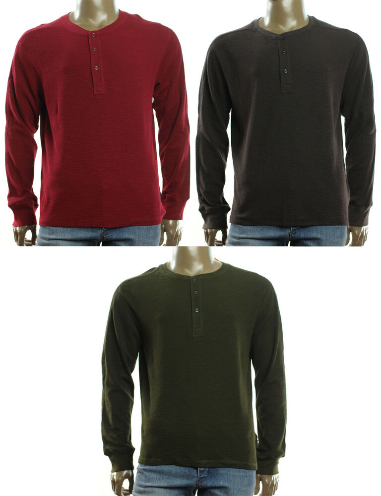 New mens field stream waffle long sleeve henley neck for Field and stream fishing shirts