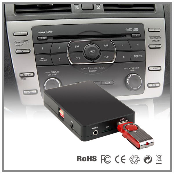how to put aux in car cd player