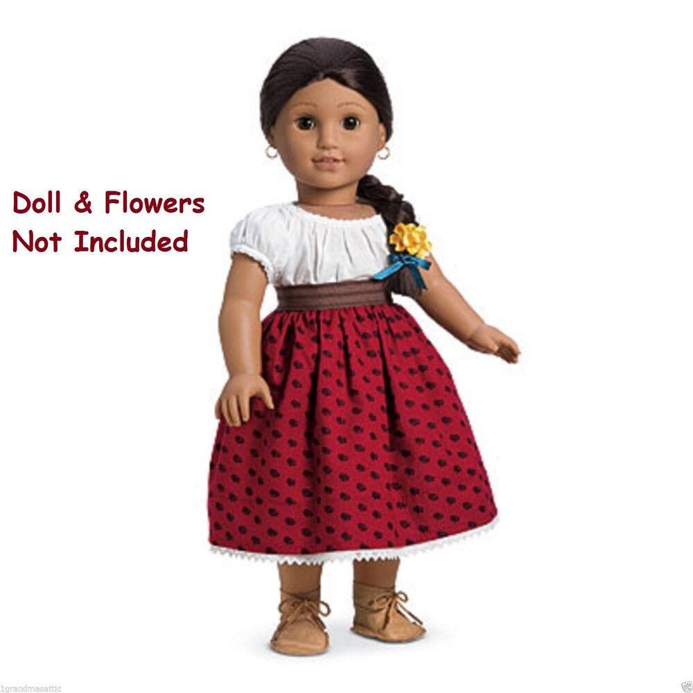 american girl josefina 39 s original meet outfit nip shoes no doll or flower ebay. Black Bedroom Furniture Sets. Home Design Ideas