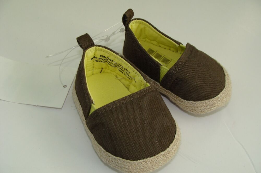 H&M Baby Boys Girls Shoes Size 2 5 3 5 NEW Brown NIB