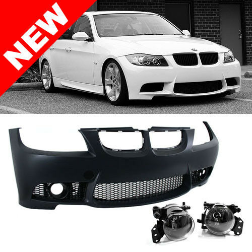 06 08 bmw e90 e91 3 series 4dr m3 style non pdc front bumper kit w fog lights ebay. Black Bedroom Furniture Sets. Home Design Ideas