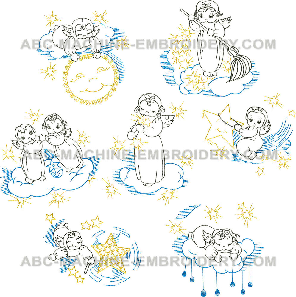 Abc designs little angels machine embroidery designs set 5 for Embroidery office design version 7 5