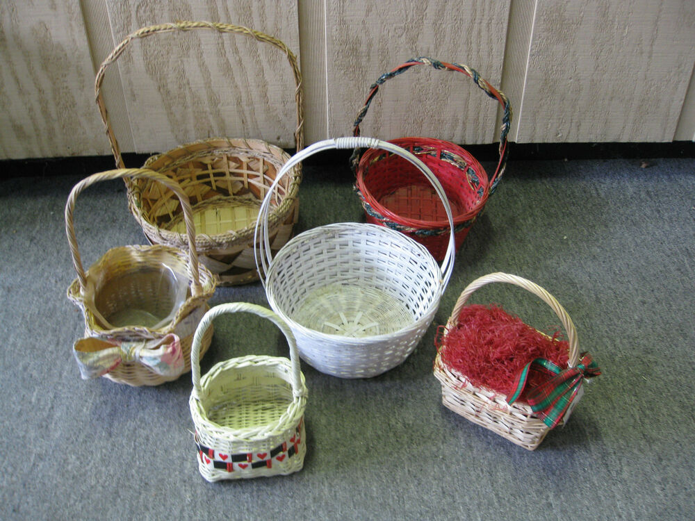 lot of 6 wicker baskets home decor gift baskets ebay