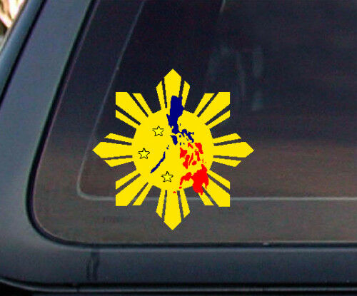 Philippine flag sun star island car decal stickers ebay