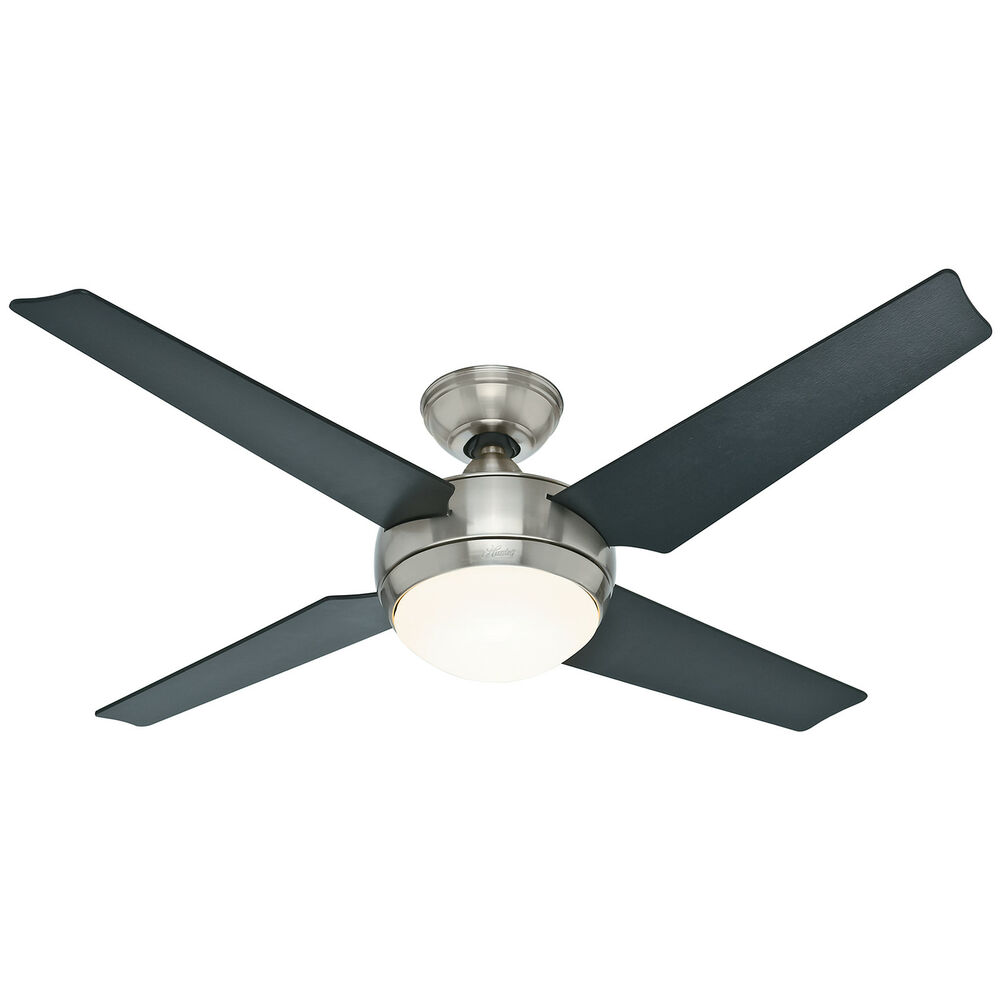 "Lighting Fans: HUNTER 52"" Sonic ""Brushed Nickel"" Finish Ceiling Fan W"