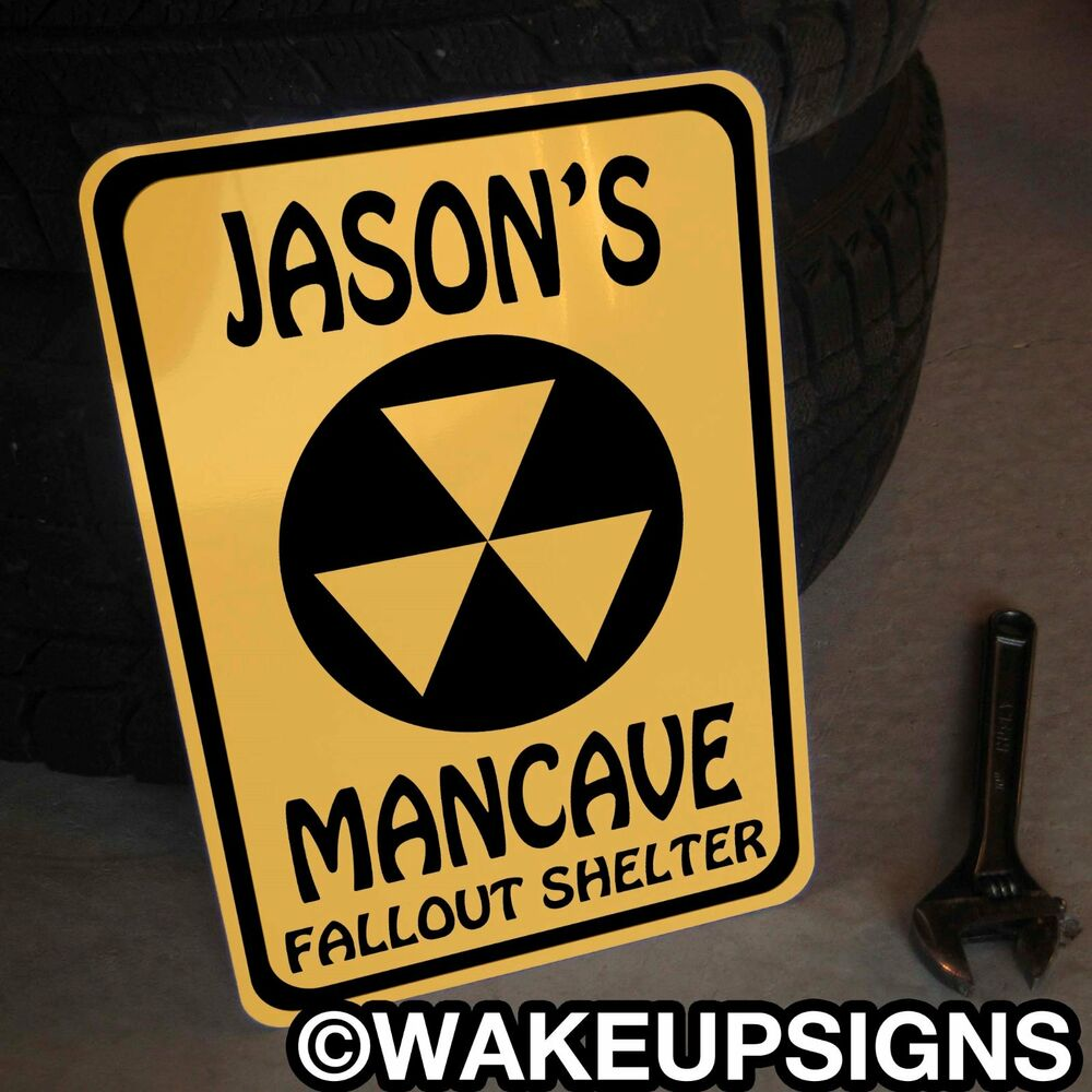 Personalized Man Cave Garage Signs : Aluminum quot by custom garage man cave sign fallout