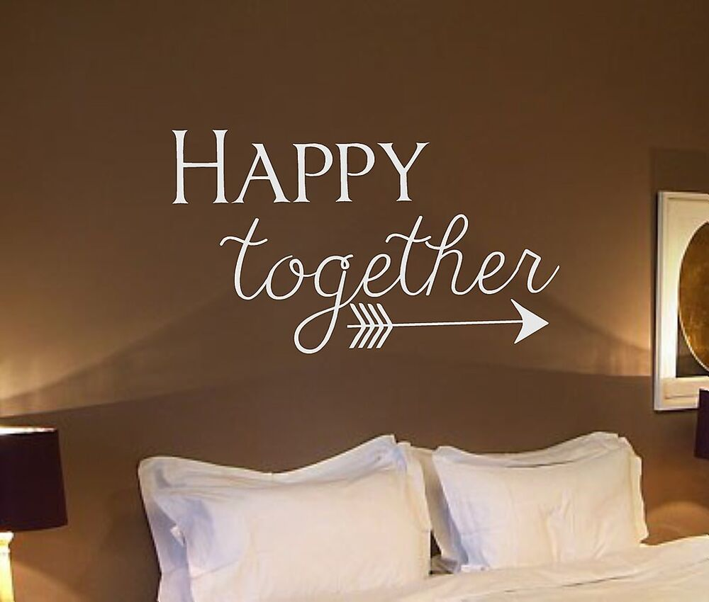 Vinyl wall decal happy together arrow wall quotes for Decor quotations
