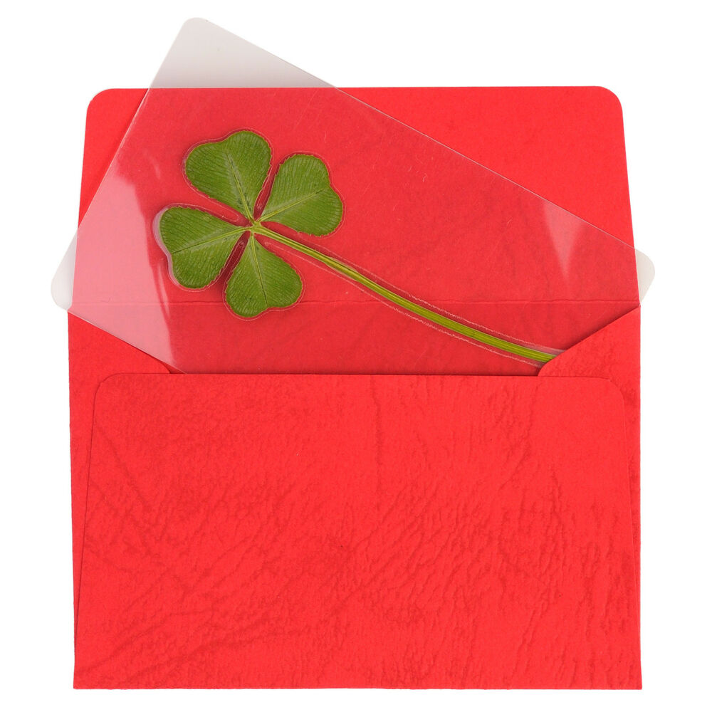 Real 4 Four Leaf Clover Irish Good Luck Charms Wedding Favors Gifts Coated M 1