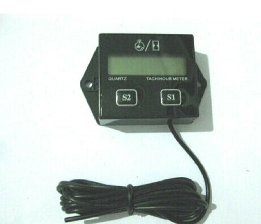 Electric Motor Hour Meters : Motorcycle hour meter tachometer rpm digital lcd generator