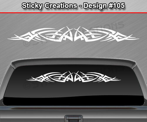 Design 105 Tribal Spikes Windshield Decal Back Window