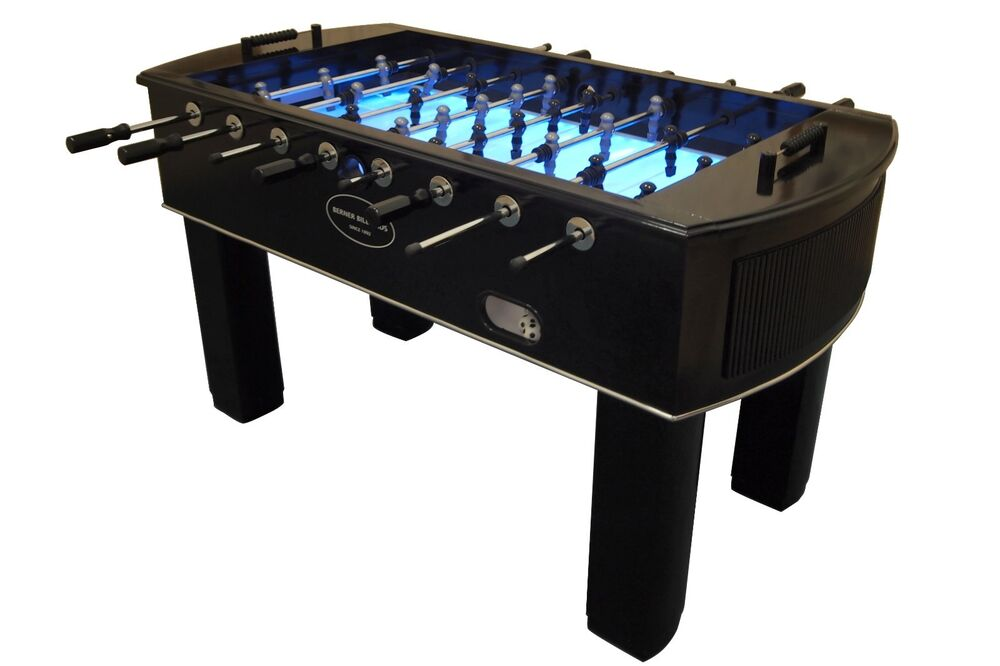 Quot The Neon Quot Foosball Table In Black W Light Up Glow